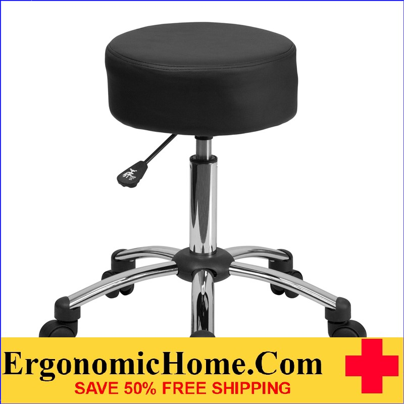Ergonomic Home Medical Stool with Chrome Base <b><font color=green>50% Off Read More Below...</font></b></font></b>