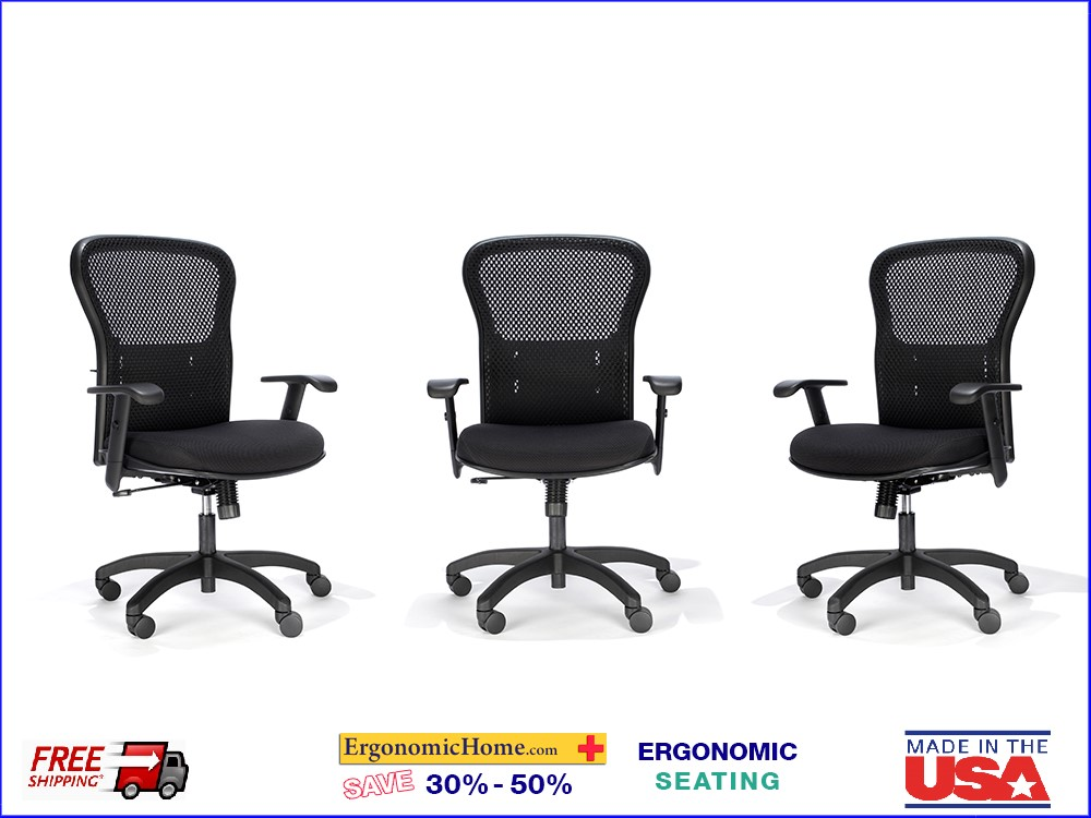 Mesh Back Chair #161-Q.  Quickship Ergonomic Chair. <font color=#c60> Read More Below.</font>