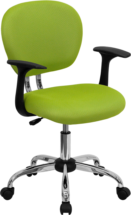Ergonomic Home Mid-Back Apple Green Mesh Swivel Task Chair with Chrome Base and Arms EH-H-2376-F-GN-ARMS-GG <b><font color=green>50% Off Read More Below...</font></b>