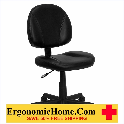 Ergonomic Home Mid-Back Black Leather Swivel Task Chair EH-BT-688-BK-GG <b><font color=green>50% Off Read More Below...</font></b>