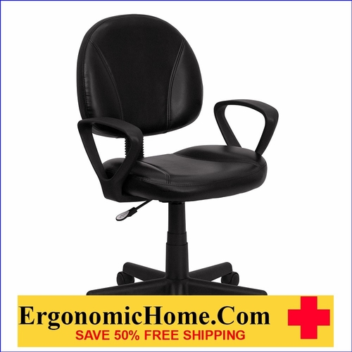 </b></font>Ergonomic Home Mid-Back Black Leather Swivel Task Chair with Arms EH-BT-688-BK-A-GG <b></font>. <p>RATING:&#11088;&#11088;&#11088;&#11088;&#11088;</b></font></b>