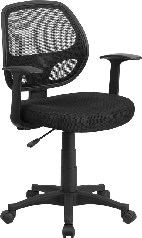 Ergonomic Home Mid-Back Black Mesh Swivel Task Chair EH-LF-W-118A-BK-GG <b><font color=green>50% Off Read More Below...</font></b>