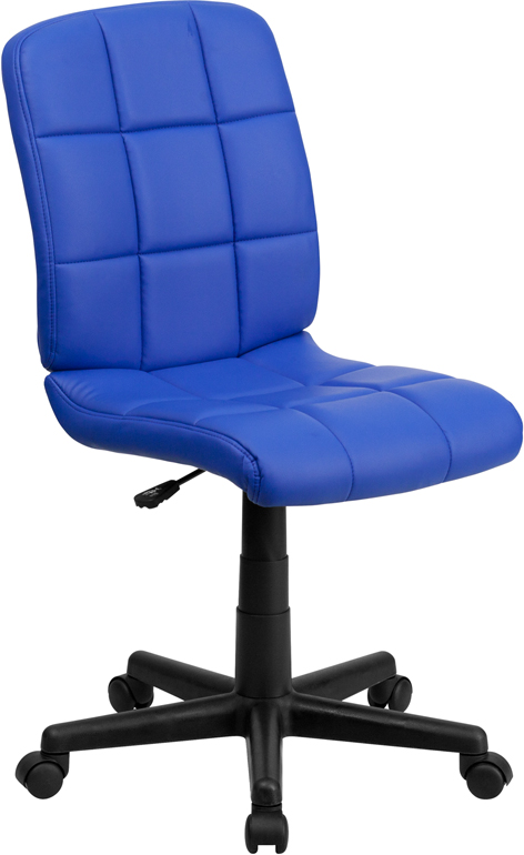 <font color=#c60>Save 50% w/Free Shipping!</font> Mid-Back Blue Quilted Vinyl Swivel Task Chair GO-1691-1-BLUE-GG <font color=#c60>Read More ... </font>