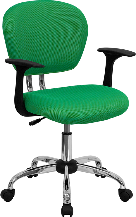 Ergonomic Home Mid-Back Bright Green Mesh Swivel Task Chair with Chrome Base and Arms EH-H-2376-F-BRGRN-ARMS-GG <b><font color=green>50% Off Read More Below...</font></b>