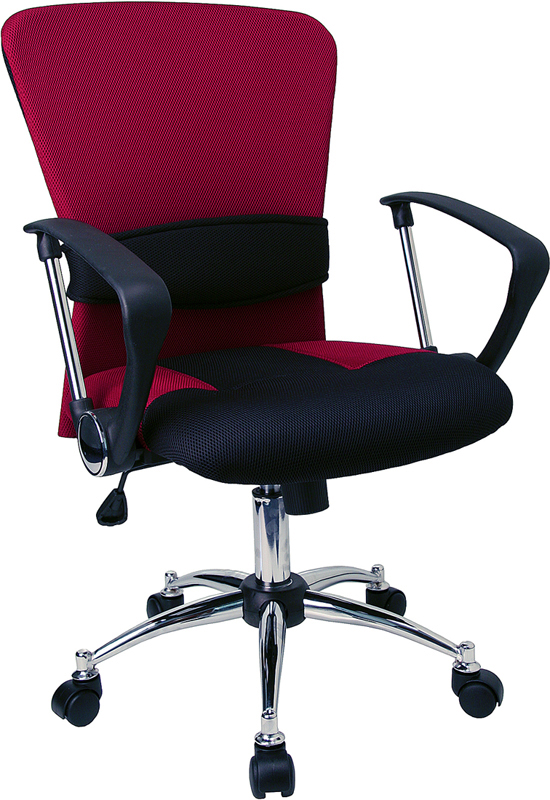 </b></font>Ergonomic Home Mid-Back Burgundy Mesh Swivel Task Chair EH-LF-W23-RED-GG <b></font>. </b></font></b>