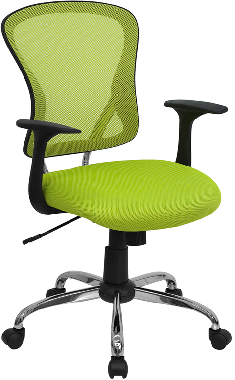 </b></font>Ergonomic Home Mid-Back Green Mesh Swivel Task Chair with Chrome Base EH-H-8369F-GN-GG <b></font>. </b></font></b>