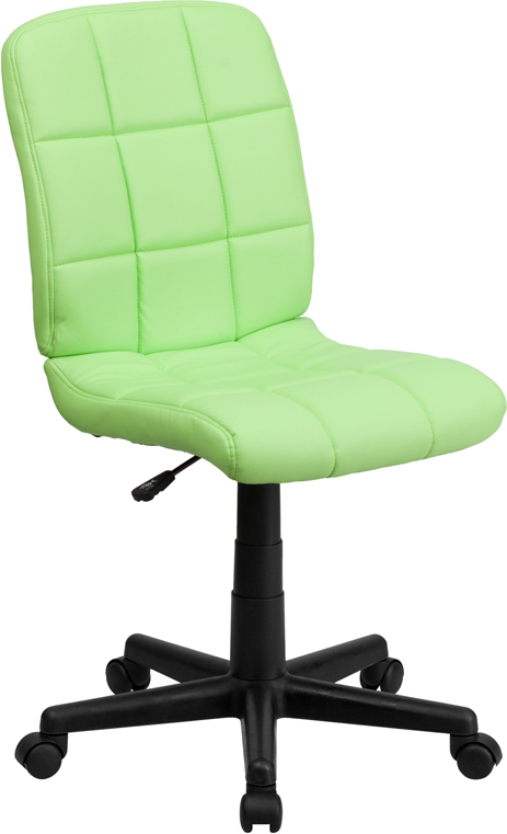 <font color=#c60>Save 50% w/Free Shipping!</font> Mid-Back Green Quilted Vinyl Swivel Task Chair GO-1691-1-GREEN-GG <font color=#c60>Read More ... </font>