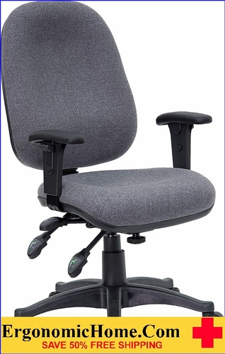 Ergonomic Home Mid-Back Multi-Functional Gray Fabric Executive Swivel Office Chair <b><font color=green>50% Off Read More Below...</font></b></font></b>