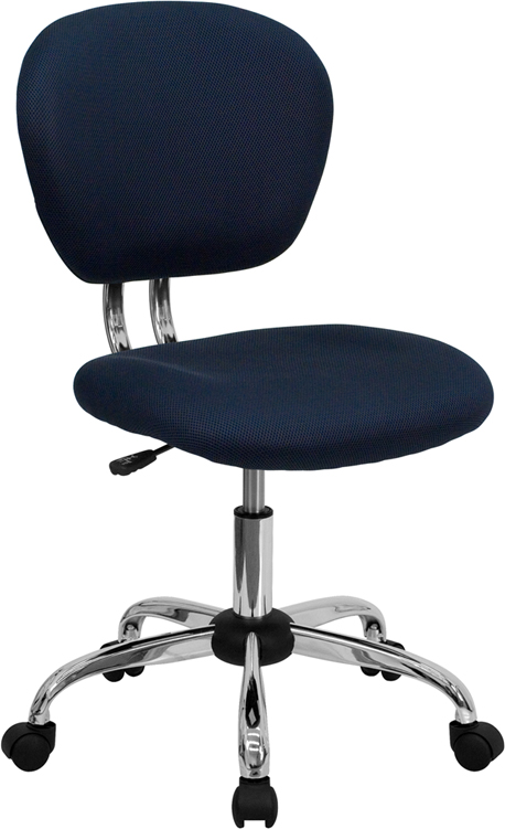 Ergonomic Home Mid-Back Navy Mesh Swivel Task Chair with Chrome Base EH-H-2376-F-NAVY-GG <b><font color=green>50% Off Read More Below...</font></b>