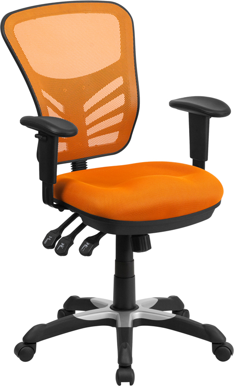 Ergonomic Home Mid-Back Orange Mesh Swivel Task Chair with Triple Paddle Control EH-HL-0001-OR-GG <b><font color=green>50% Off Read More Below...</font></b>