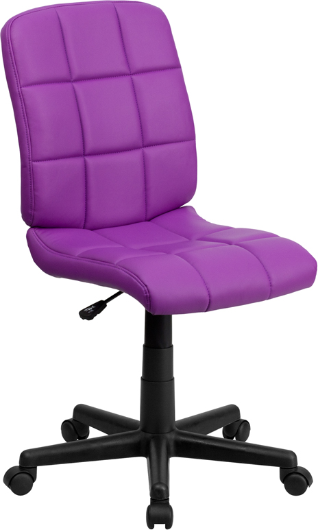 <font color=#c60>Save 50% w/Free Shipping!</font> Mid-Back Purple Quilted Vinyl Swivel Task Chair GO-1691-1-PUR-GG <font color=#c60>Read More ... </font>