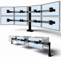 <b>HERE'S A CONCEPT: MASTER YOUR MONITORS W/MONITOR STANDS AND ARMS OFFERED IN SINGLE, DUAL, TRIPLE, QUAD, AND MULTIPLE MONITOR APPLICATIONS.</b></font>