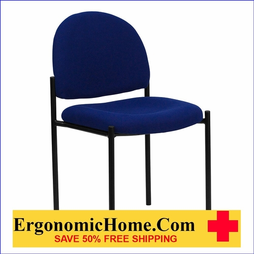Ergonomic Home Navy Fabric Comfortable Stackable Steel Side Chair EH-BT-515-1-NVY-GG <b><font color=green>50% Off Read More Below...</font></b>