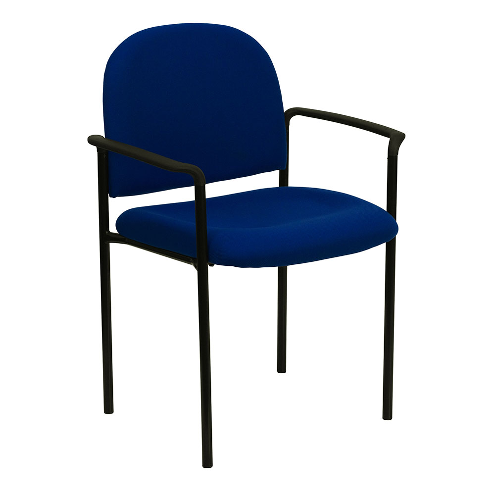 Ergonomic Home Navy Fabric Comfortable Stackable Steel Side Chair with Arms EH-BT-516-1-NVY-GG <b><font color=green>50% Off Read More Below...</font></b>