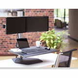 <b><font color=#c60>STAND TO GET FIT WITH THE INNOVATIVE WINSTON ADJUSTABLE DUAL SIT STAND WORKSTATION #WSTN-2-FS. HOLDS MOST MONITORS UP TO 30 IN:</b></font>