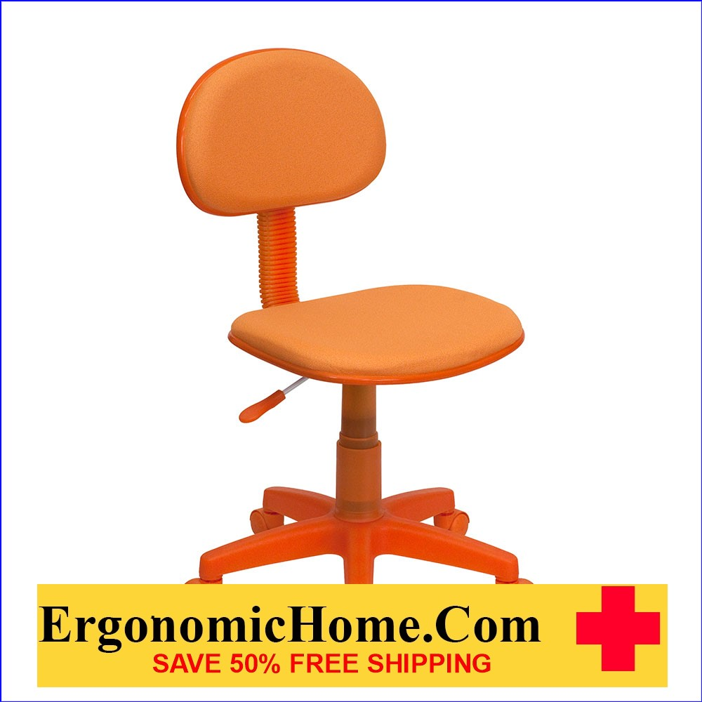 </b></font>Ergonomic Home Orange Fabric Ergonomic Swivel Task Chair EH-BT-698-ORANGE-GG <b></font>. </b></font></b>