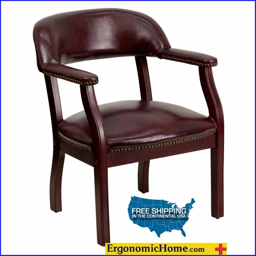 Ergonomic Home Oxblood Vinyl Luxurious Conference Chair/Guest Chair EH-B-Z105-OXBLOOD-GG <b><font color=green>50% Off Read More Below...</font></b></font></b>&#x1F384<font color=red><b>ERGONOMICHOME HOLIDAY SALE</b></font>&#x1F384