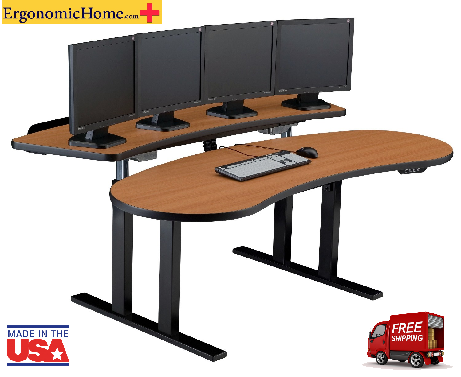 Pacs radiology furniture stand up desk viking pacs radiology furniture imaging workstation - Viking office desk ...