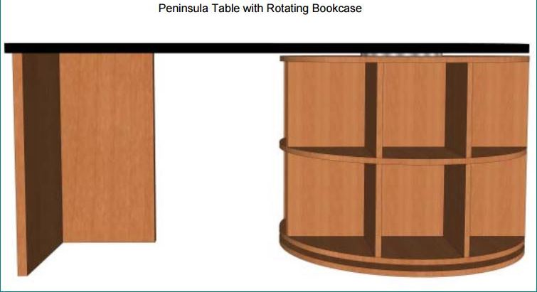 Peninsula Table Desk Fixed Height # PTRB63-00.
