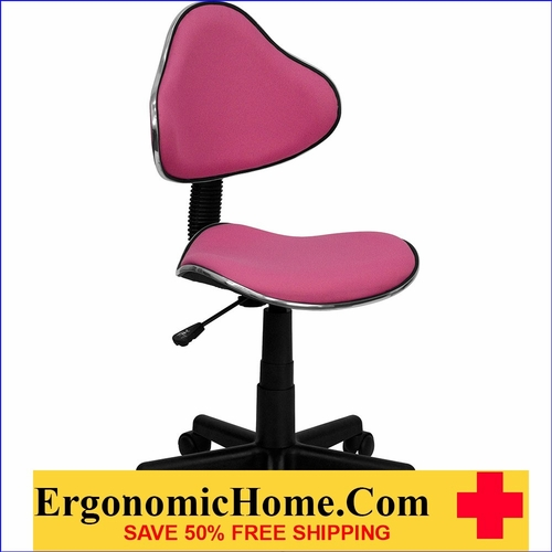 Ergonomic Home Pink Fabric Ergonomic Swivel Task Chair EH-BT-699-PINK-GG <b><font color=green>50% Off Read More Below...</font></b>