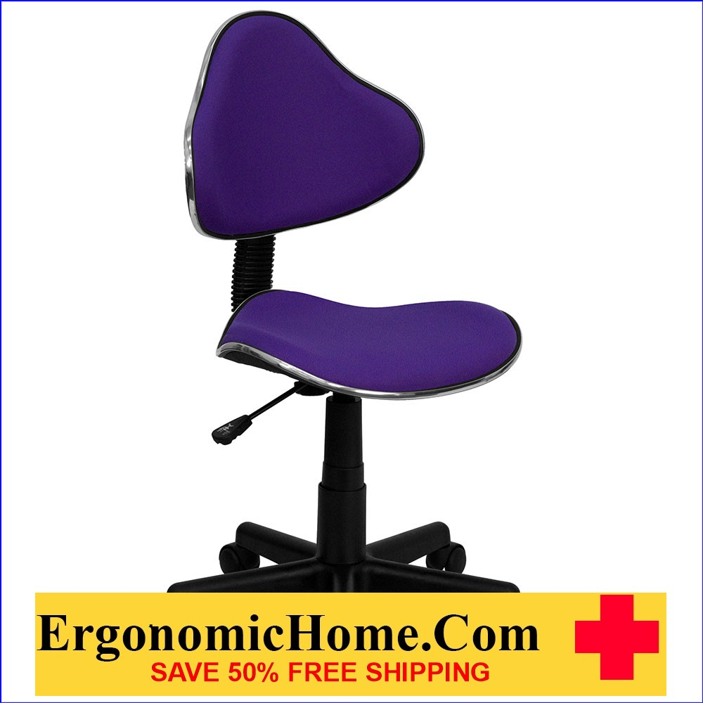 Ergonomic Home Purple Fabric Swivel Task Chair EH-BT-699-PURPLE-GG .