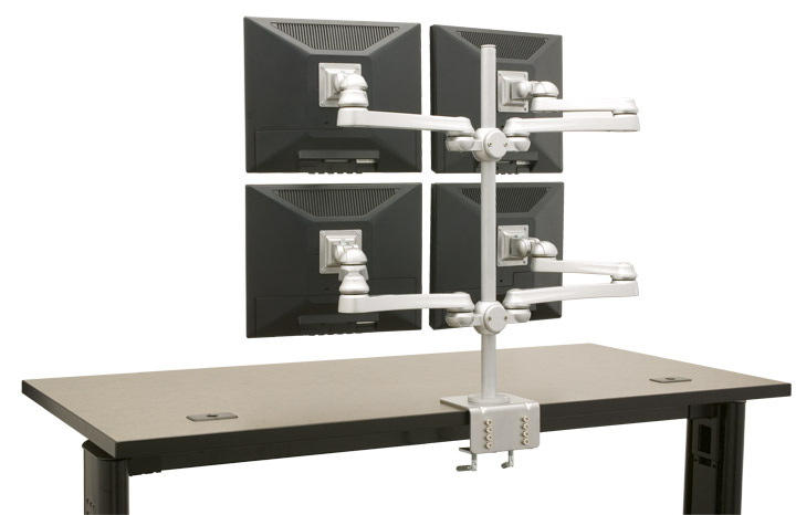 QUAD MONITOR STAND. COMPUTER MONITOR STAND #MTR-4X.</b></font>