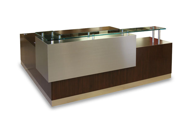 Reception Desks: ADA Compliant, Custom, Modern, Curved, White, Office, Black