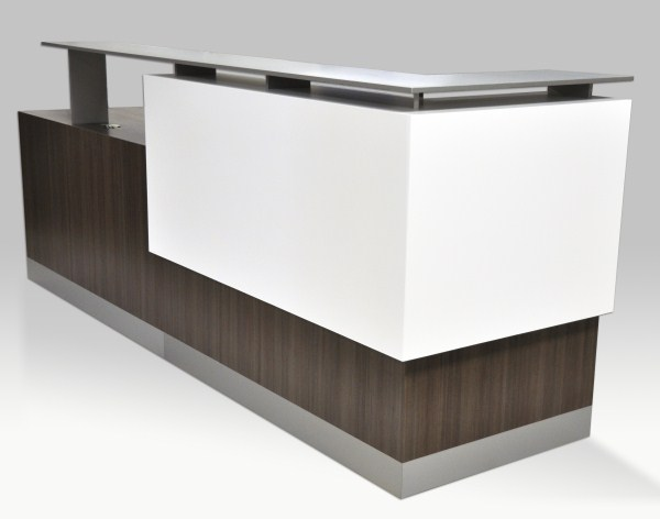 RECEPTION DESKS: ADA COMPLIANT, CUSTOM, MODERN, CURVED, WHITE, BLACK, STONE, GLASS TOPS. READ MORE...