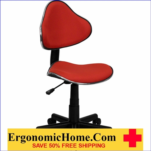 Ergonomic Home Red Fabric Ergonomic Swivel Task Chair EH-BT-699-RED-GG <b><font color=green>50% Off Read More Below...</font></b>
