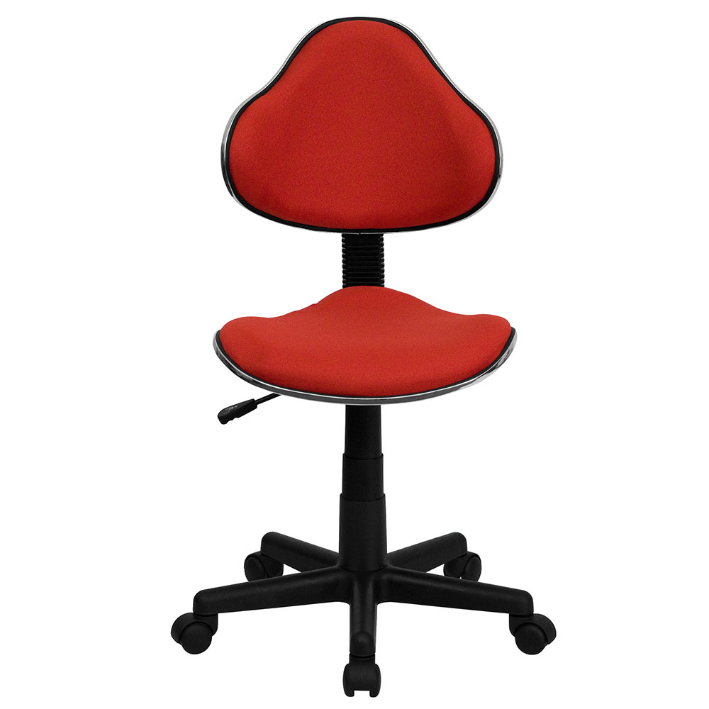 Ergonomic Home Red Fabric Ergonomic Swivel Task Chair
