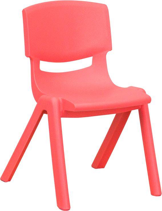 Ergonomic Home Red Plastic Stackable School Chair with 12'' Seat Height <b><font color=green>50% Off Read More Below...</font></b>