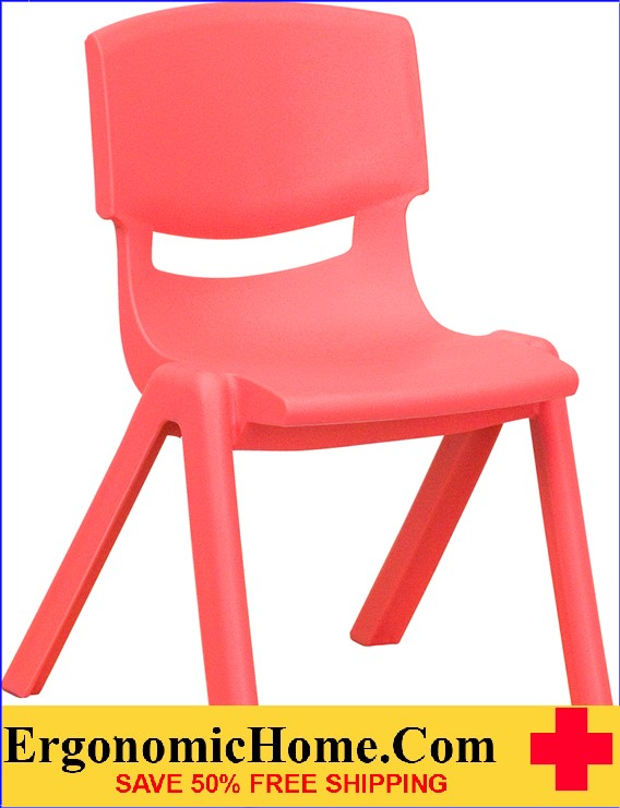 </b></font>Ergonomic Home Red Plastic Stackable School Chair with 12'' Seat Height EH-YU-YCX-001-RED-GG <b></b></font>  VIDEO BELOW. </b></font></b>