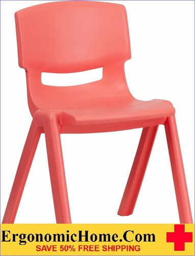 Ergonomic Home Red Plastic Stackable School Chair with 13.25'' Seat Height EH-YU-YCX-004-RED-GG <b><font color=green>50% Off Read More Below...</font></b></font></b>