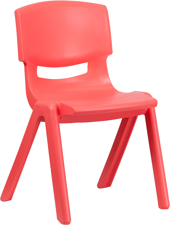 Ergonomic Home Red Plastic Stackable School Chair with 15.5'' Seat Height <b><font color=green>50% Off Read More Below...</font></b>