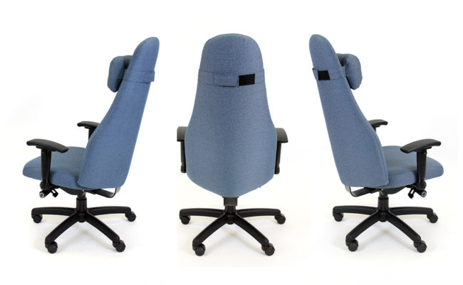 RFM Heavy Duty Chair Supports 300lbs. W/Neck Support Pillow #4898 Read More  Below.