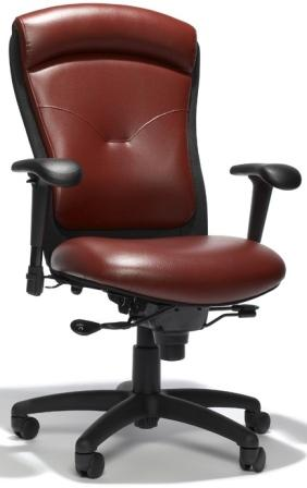 Logo Chair Leather Executive Chair Rfm Tuxedo Seating