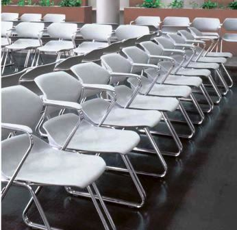 American Seating Acton Stack Chairs w/Plastic Armcaps #AC0120