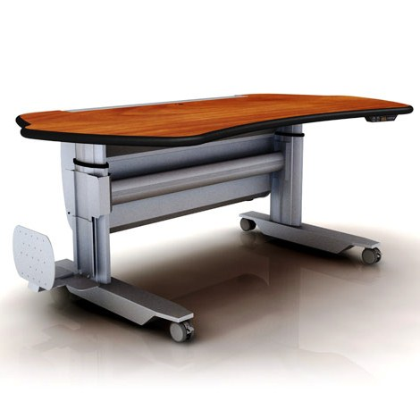 """ERGOTRAC RADIOLOGY WORKSTATION. FIXED HEIGHT W/CASTERS. DIMENSIONS: 88"""" x 38"""". PRICE RANGE $3,018 TO $3,554. ITEM #MT7-SL-F-L2-ST3."""