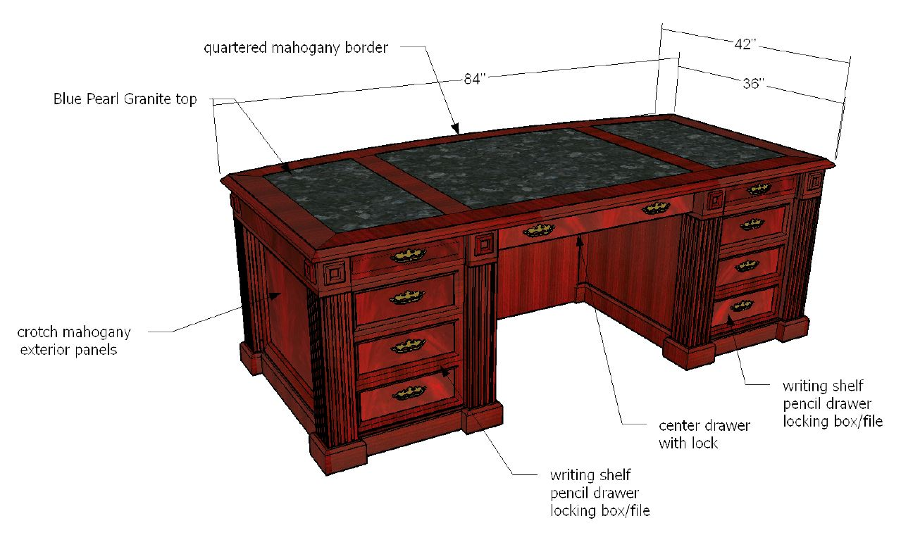 The Flame Executive Desk Hand Made Craftsmanship In Beautiful Crotch Mahogany Order Yours For 2018 Only 20 14 Left Will Be