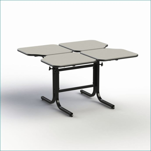 WHEELCHAIR ACCESSIBLE ADJUSTABLE HEIGHT DINING TABLE 4-PERSONS # BFL4-22. VIDEO. ADD TO CART FOR FREE SHIPPING.