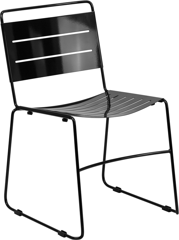 <font color=#c60>Save 50% w/Free Shipping!</font> TOUGH ENOUGH Series Black Indoor-Outdoor Metal Stack Chair HA-1-BK-GG <font color=#c60>Read More ... </font>
