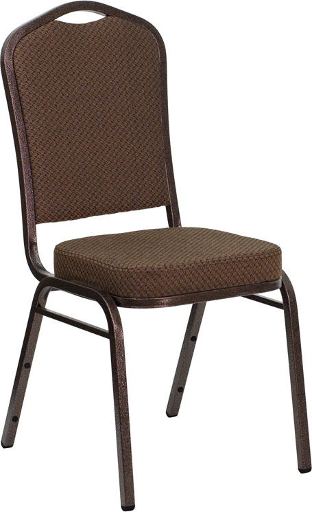 <font color=#c60>Save 50% w/Free Shipping!</font> TOUGH ENOUGH Series Crown Back Stacking Banquet Chair with Brown Patterned Fabric and 2.5'' Thick Seat - Copper Vein Frame FD-C01-COPPER-008-T-02-GG <font color=#c60>Read More ... </font>