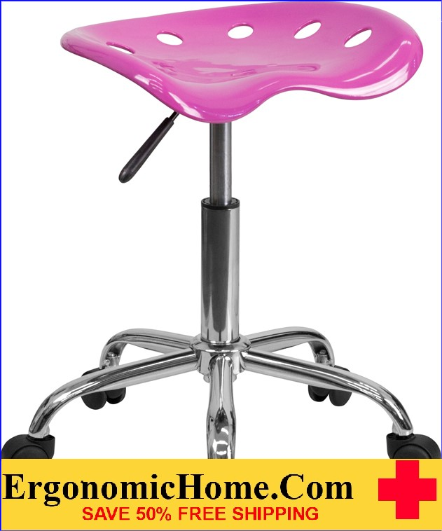 Ergonomic Home Vibrant Candy Heart Tractor Seat and Chrome Stool <b><font color=green>50% Off Read More Below...</font></b></font></b>