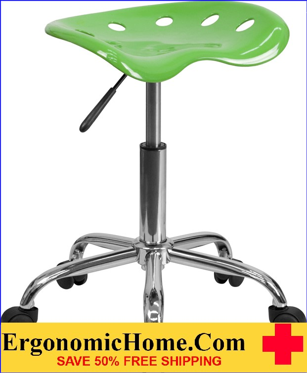 Ergonomic Home Vibrant Spicy Lime Tractor Seat and Chrome Stool <b><font color=green>50% Off Read More Below...</font></b></font></b>