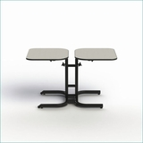 ADJUSTABLE HEIGHT DINING TABLE. WHEELCHAIR ACCESSIBLE. ADA COMPLIANT FURNITURE. #BFL2-11. VIDEO.