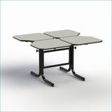 WHEELCHAIR ACCESSIBLE,  ADJUSTABLE HEIGHT DINING TABLE 4-PERSONS # BFL4-22. VIDEO. ADD TO CART FOR FREE SHIPPING.</font></b>