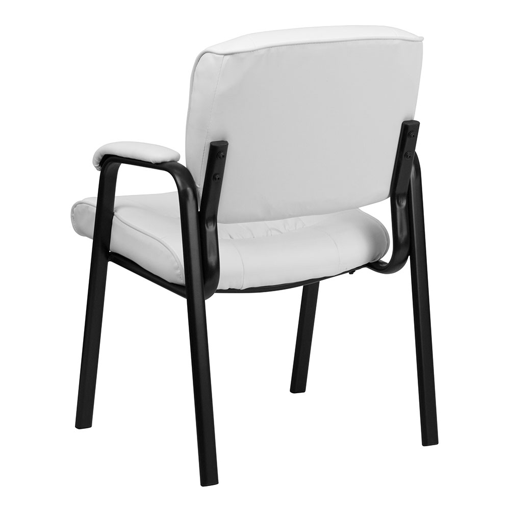 Pleasant Ergonomic Home White Leather Executive Side Chair With Black Frame Finish Eh Bt 1404 Wh Gg 50 Off Read More Below Pdpeps Interior Chair Design Pdpepsorg