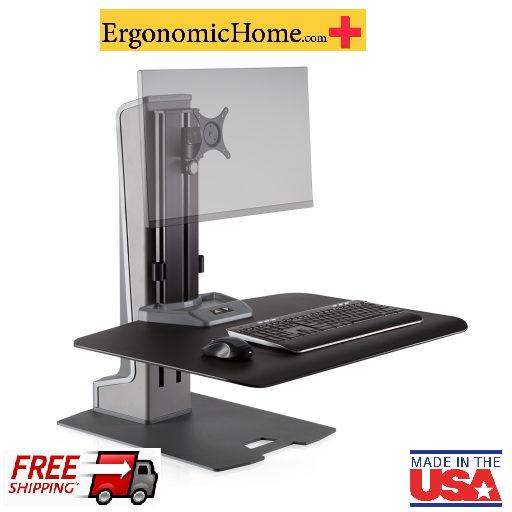 Work To Get Fit! Yes you can with the Winston Electric Single Motorized Monitor Stand WNSTE-1-270, Supports 40lbs. <font color=#c60>Read More below.</i></font>