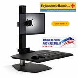 Winston Single Monitor Sit Stand Desk Monitor Stand #WSTN-1-FS