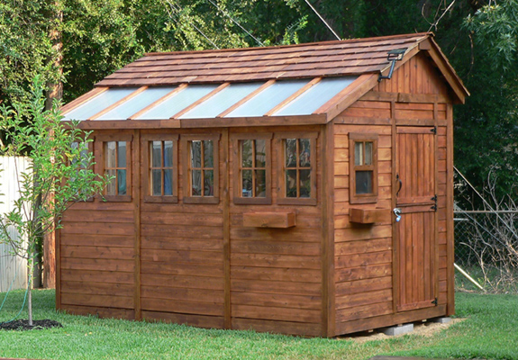 8 x 12 sunshed cedar garden shed and greenhouse ssgs812 Green house sheds